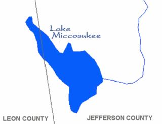 Lake Miccosukee lake in Florida, United States of America