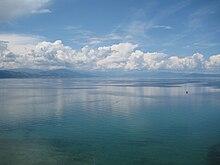 Photographie du lac d'Ohrid