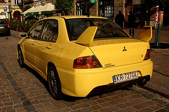 Mitsubishi Lancer Evolution - Mitsubishi Lancer Evolution sedan (Poland)
