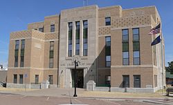Lane County, Kansas courthouse from SW 1.JPG