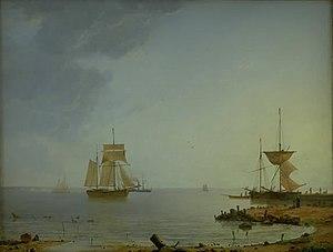 Emanuel Larsen - Image: Larsen Skibe ved Sjællands kyst Morgen 1845