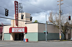 Laurelhurst Theater - The theater's exterior in 2011