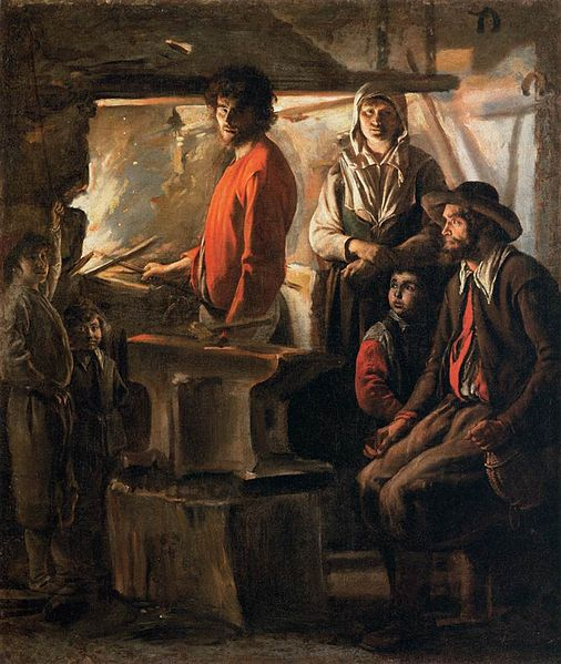 File:Le Nain Brothers - Blacksmith at His Forge - WGA12575.jpg