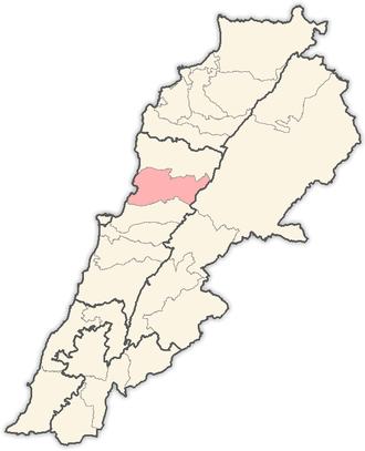 Keserwan District - Image: Lebanon districts Keserwan