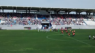 2013–14 Segunda División B - Match between C.D. Leganés and Bilbao Athletic at Estadio Municipal de Butarque, game 38 of group II (1:0).
