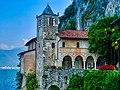 Leggiuno Monastero di Santa Caterina del Sasso Chiesa Esterno 6.jpg