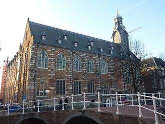 The Academy building of Leiden University in modern days Leiden - Rapenburg - universiteit.JPG