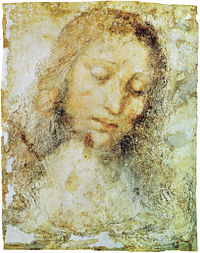 Leonardo da Vinci,  Head of Christ (study for the Last Supper)
