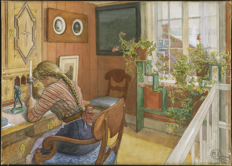 Letter-Writing (Carl Larsson) - Nationalmuseum - 25407