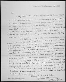 lettre de demission ecrite a la main John Tyler — Wikipédia lettre de demission ecrite a la main