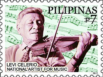 Levi Celerio - Image: Levi Celerio 2010 stamp of the Philippines