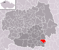 Location of Libkovice pod Řípem