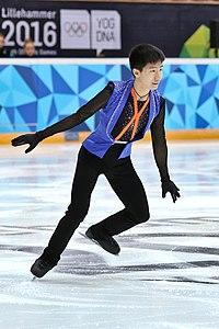 Lillehammer 2016 - Figure Skating Men Short Program - Tangxu Li.jpg