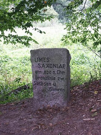 Limes Saxoniae - Modern monument dedicated to the Limes Saxoniae near Hornbek