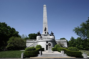 Funeral and burial of Abraham Lincoln - Lincoln's tomb, Oak Ridge Cemetery