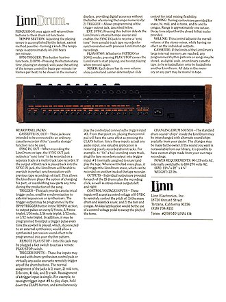LinnDrum - Image: Linn Drum digital drum machine brochure page 4