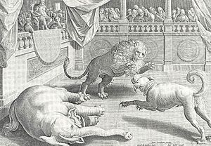 Lion-baiting - Alexander the Great