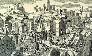 Lisbon in the aftermath of the 1755 earthquake...