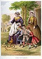 Lithography by Kronheim and Co for A Visit to Aunt by Agnes Agnes Giberne-The Chickens.jpg