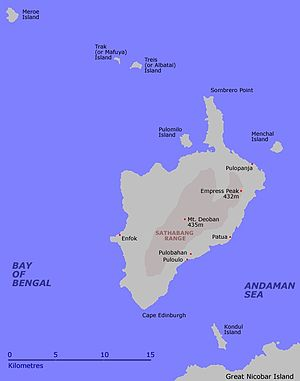 Pulomilo - Image: Little Nicobar Island Map