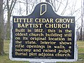 Little Cedar Grove Baptist Church historical marker.jpg