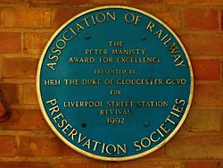 Liverpool street blue plaque