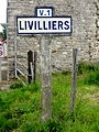 Livilliers (95), plaque Michelin sur la route d'Ennery.jpg