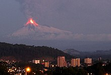 Flama vulkano preteratentante grandurbon