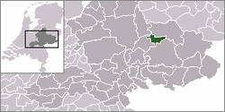 Location of Zutphen in Gelderland, Netherlands