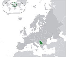 Location of Serbia in the world