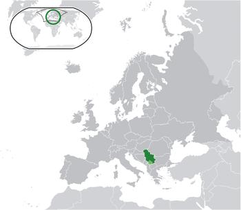 Sırbistan haritadaki konumu