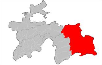 Murghob District - Image: Location of Murghob District in Tajikistan