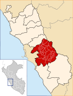 Location of the province Huarochirí in Lima.svg