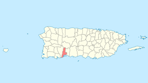 Location of Guayanilla in Puerto Rico