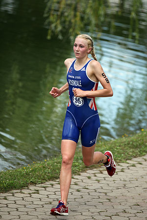 Lois Rosindale - Lois Rosindale at the World Cup triathlon in Tiszaújváros, 2011.