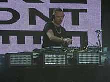 Duke Dumont performing in 2014