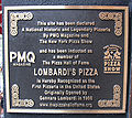 Lombardi's Pizza (Manhattan, New York) plaque 01 crop.jpg