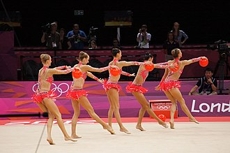 Italy at the 2012 Summer Olympics - Italy performs a ball routine in the team all-around final
