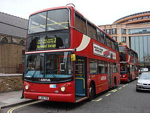 London Buses route 2 - Arriva London Alexander ALX400 bodied Volvo B7TL in September 2007
