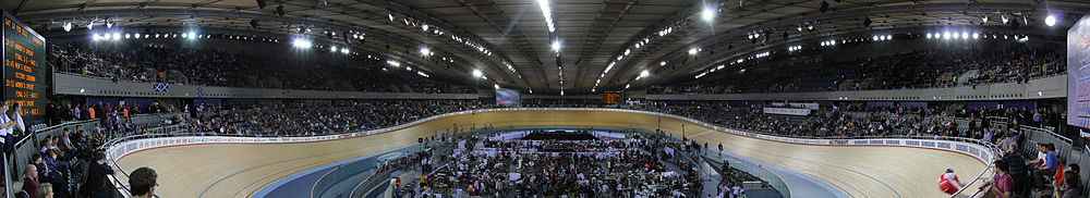The London Velopark at the World Cup Cycling Event in February 2012