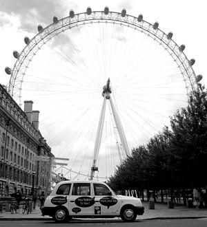 Hall & Partners - Image: London eye 2 B&W