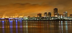 Skyline of Long Beach, California