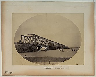 Long Bridge (Potomac River) - The Long Bridge in 1861 seen from the Virginia shore