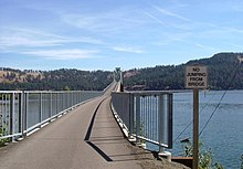 Looking east on rail-to-trail bridge over Lake Coeur d'Alene from its west end.jpg