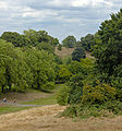 Looking north along the Prime Meridian from Royal Greenwich Observatory.jpg