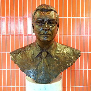 Michael Ashcroft - Ashcroft's bust In the lobby of the Lord Ashcroft Building at the business school of Anglia Ruskin University in Cambridge, from where he earned Higher National Diploma in business studies.
