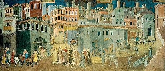 Sala Del Consiglio Dei Nove Siena.Governo Dei Nove Wikipedia