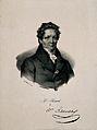 Louis-Jacques, Baron Thénard. Lithograph by (M). Wellcome V0005780.jpg