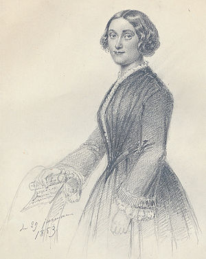 Louise Michaëli - Louise Michaëli. Drawing by Maria Röhl (1859).
