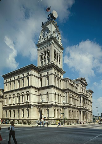 Louisville Metro Council - Louisville City Hall in downtown, built 1870-1873, is a blend of Italianate styles characteristic of Neo-Renaissance